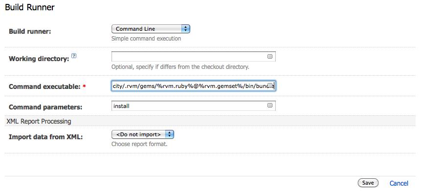 Command line build runner settings