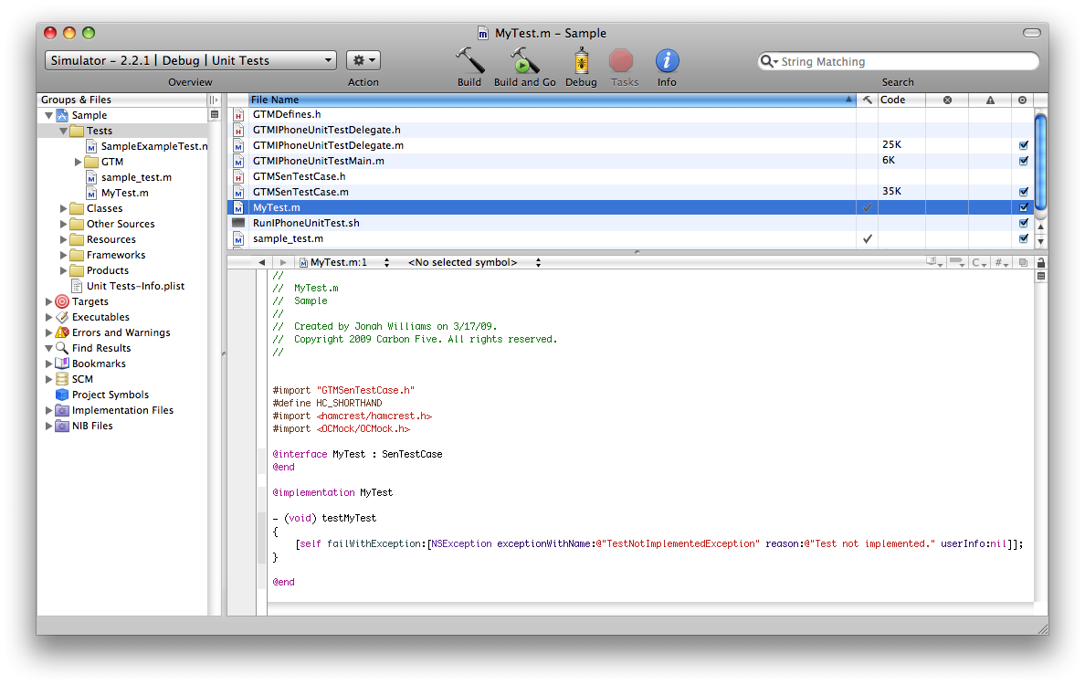 Custom Xcode Templates for iPhone Development