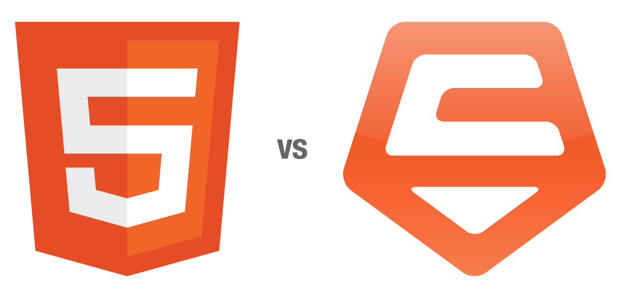 Html 5 and Carbon Five logos compared