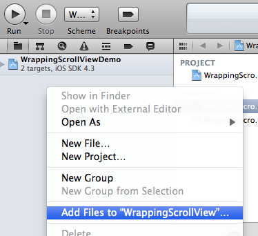 Adding an existing project to a workspace