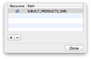 Setting the User Header Search Paths