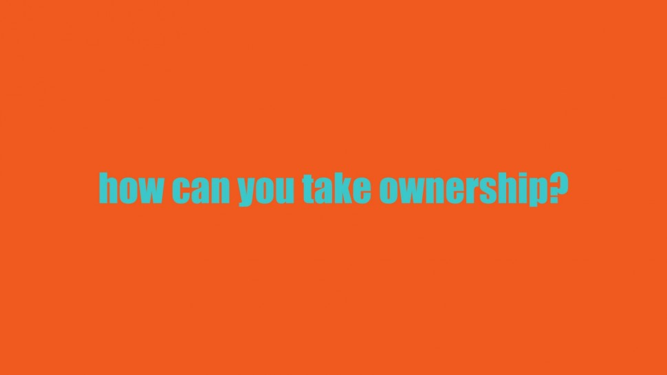 how can you take ownership?