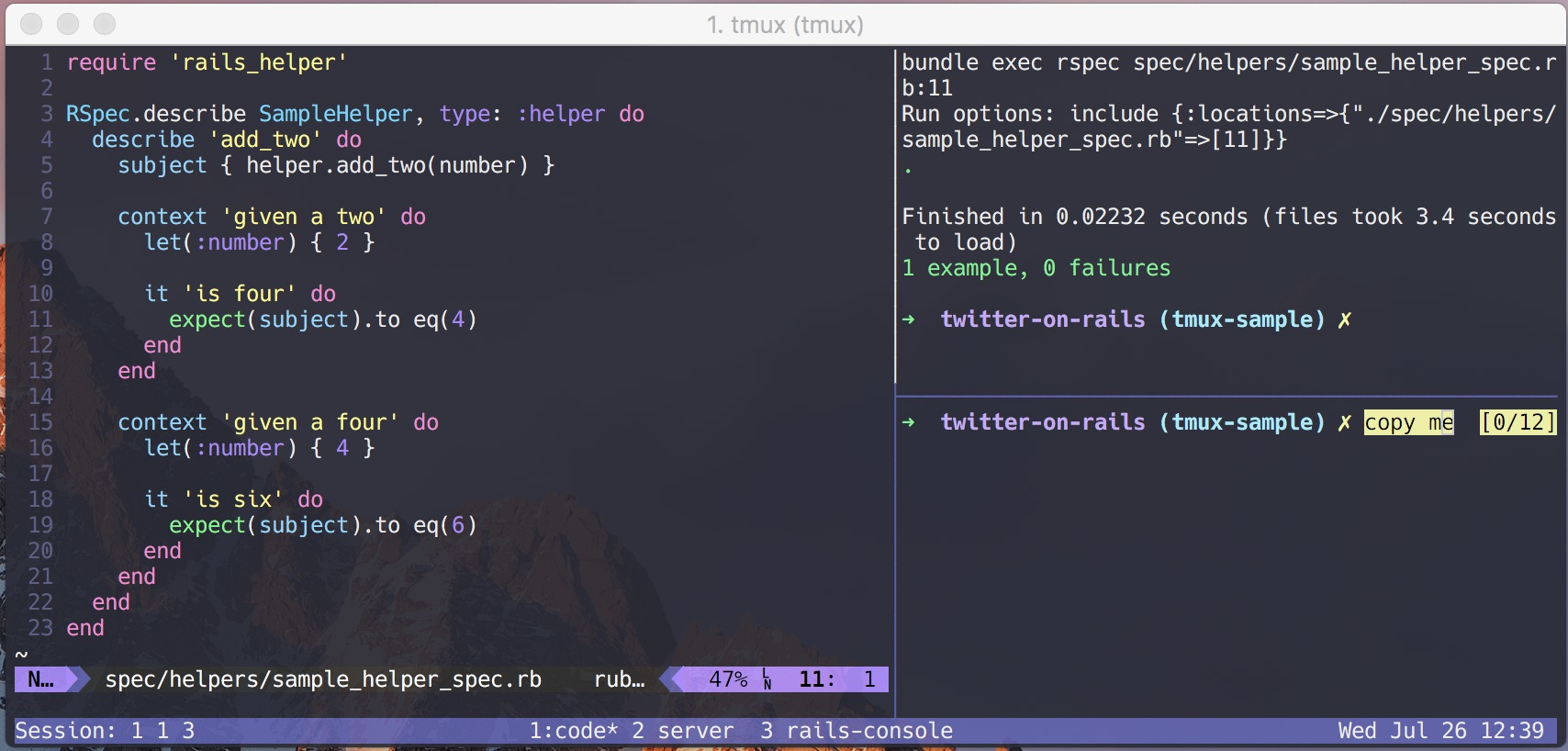 Copying and Pasting with tmux 2 4+