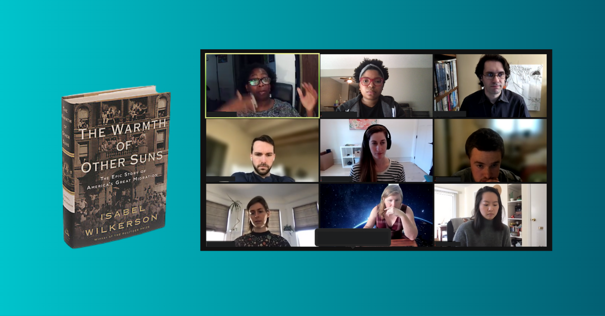 Black History Month Book Club 2021 zoom meeting at Carbon Five