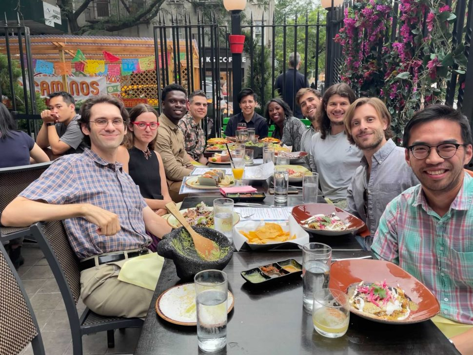 Carbon Five NYC team hosting Ifeanyi at lunch